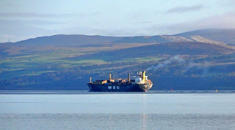 MSC Jenny Cargo Ship, Liverpool to Greenock at Kilchattan Bay